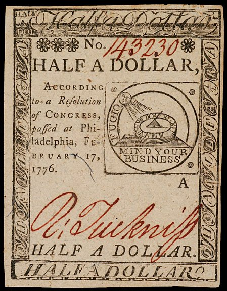 894: Continental Currency, February 17, 1776, $1/2