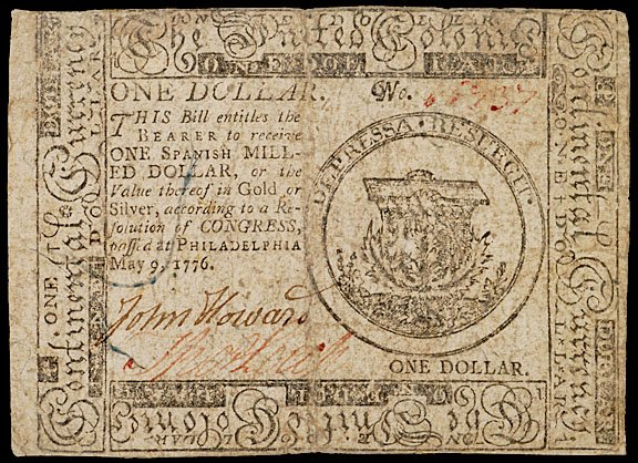 897: Continental Currency, May 9, 1776, $1