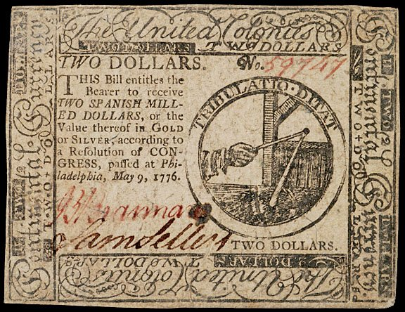 898: Continental Currency, May 9, 1776, $2