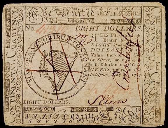 902: Continental Currency, May 20, 1777, $8