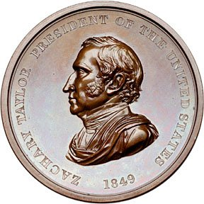 1226: 1849 Zachary Taylor Indian Peace Medal, Bronze