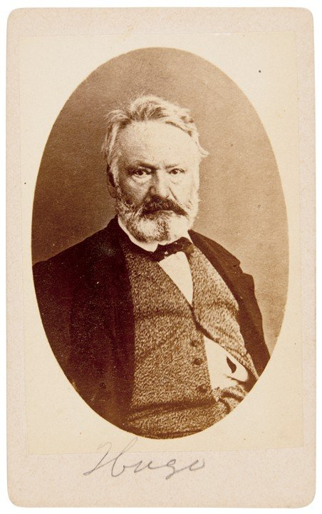 10: VICTOR HUGO, Carte-de-visite Photograph Signed