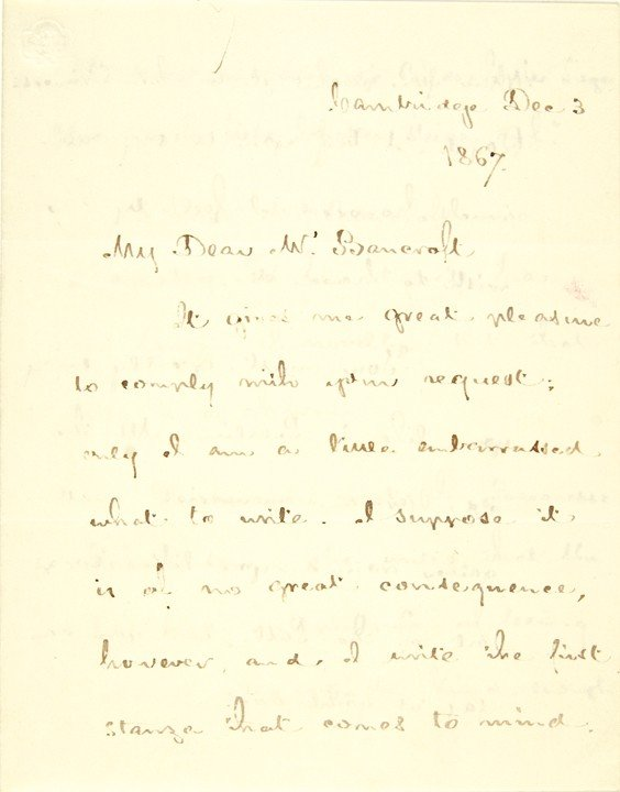 14: HENRY WADSWORTH LONGFELLOW, Poem+Letter Signed