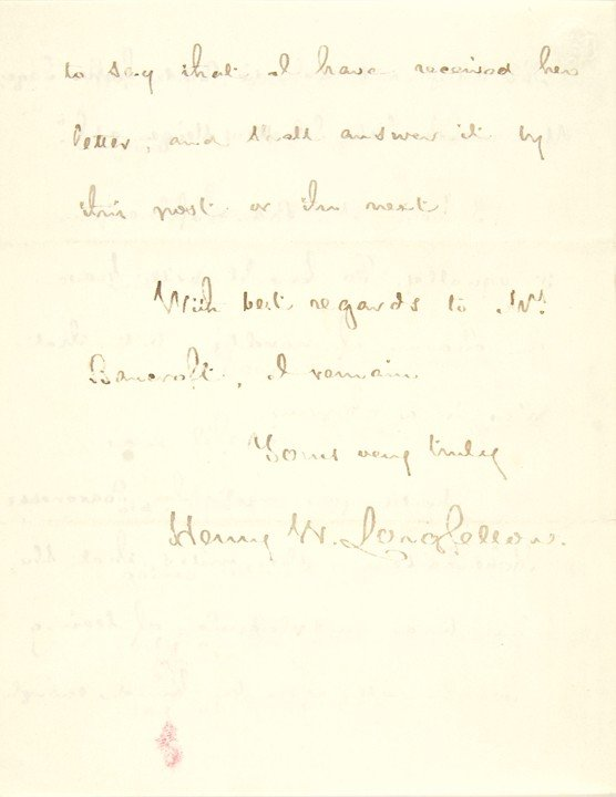 14: HENRY WADSWORTH LONGFELLOW, Poem+Letter Signed - 4