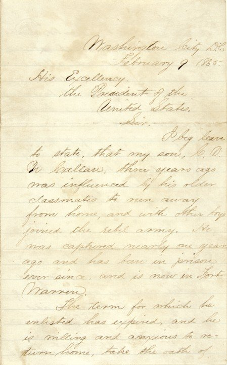 15: ABRAHAM LINCOLN, Letter Endorsement and Signed