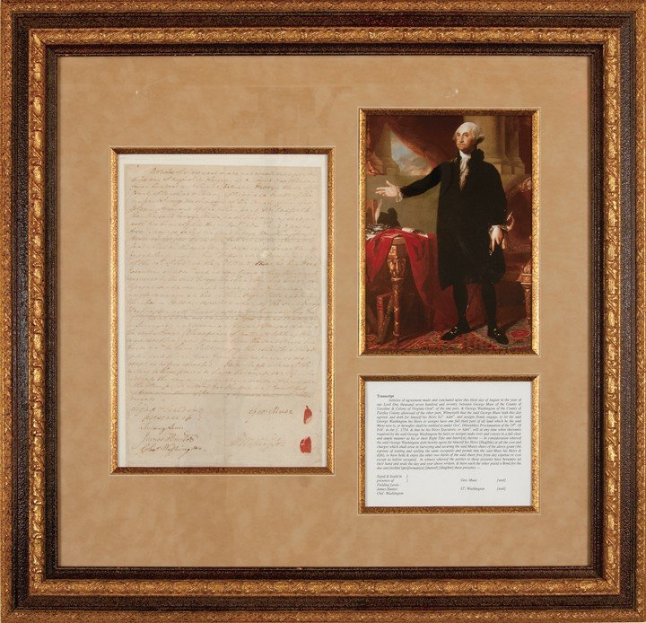 22: GEORGE WASHINGTON, Signed Autograph Document