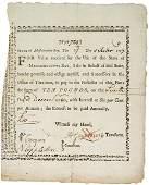 2118: 1777 Massachusetts Bay Treasury Loan Certificate