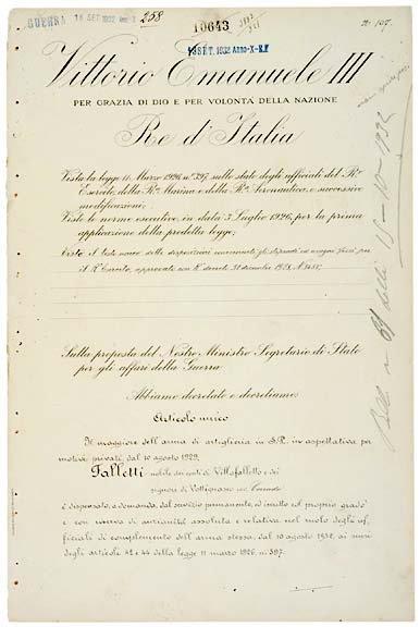 2021: King VICTOR EMMANUEL III Signed Document