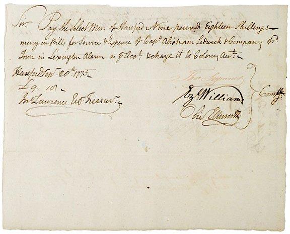 2020: Oliver Ellsworth Signed Document, 1775
