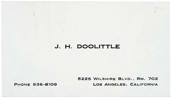 2019: James H. Doolitle Signed Card