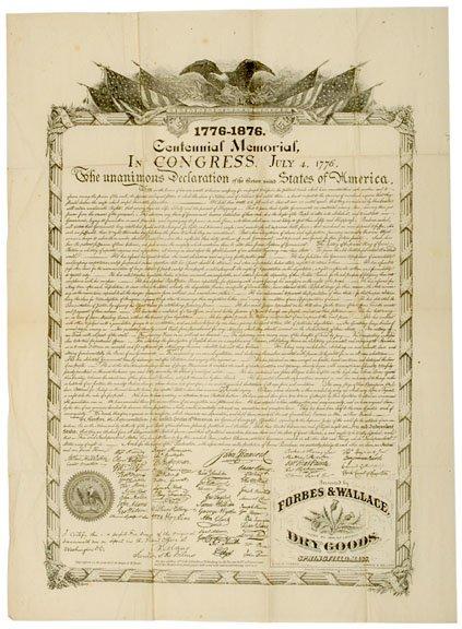 2018: DECLARATION OF INDEPENDENCE, Centennial Reprint