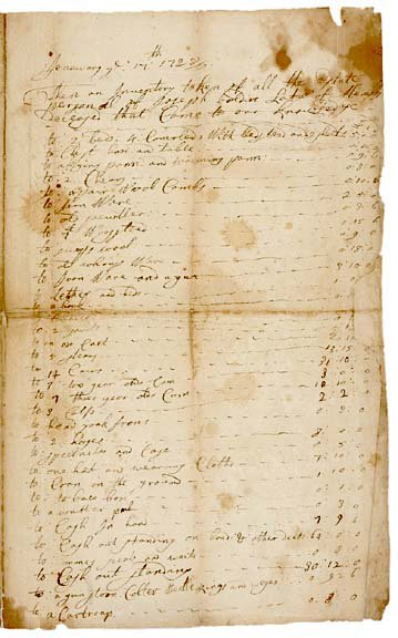 2011: NY Governor George Clark Signed Document 1728