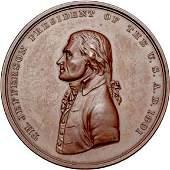 2667: 1801 Jefferson Indian Peace Medal