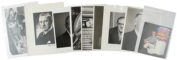 5: AMERICAN BUSINESSMEN, Nine Signed Photographs
