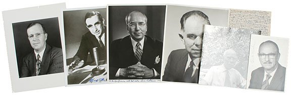 6: AMERICAN SCIENTISTS, Seven Signed Photographs
