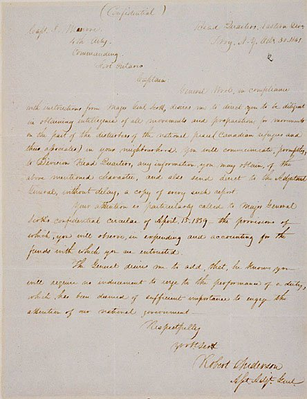 8: ROBERT ANDERSON Signed Letter 1841