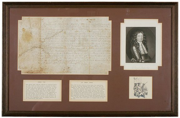 9: SIR EDMOND ANDROS Signed Document as Governor