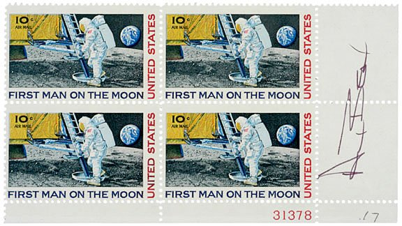 11: ASTRONAUT ALAN BEAN Postage Stamps Signed