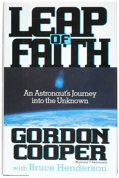 13: Mercury 7 ASTRONAUT GORDON COOPER Book Signed