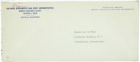 15: ASTRONAUT GUS GRISSOM Autograph NASA Envelope