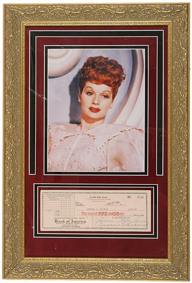 18: LUCILLE BALL, Check Signed 1953, Hollywood
