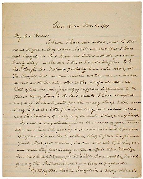 20: CLARA BARTON, Autograph Letter Signed, 1907