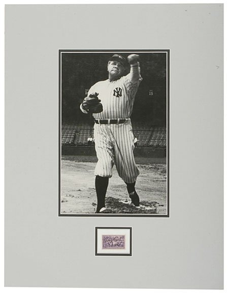 22: BABE RUTH Signed Centennial of Baseball Postage