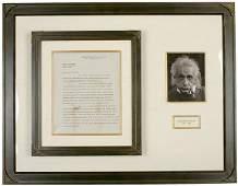 65: ALBERT EINSTEIN, Signed Letter Dated 1938