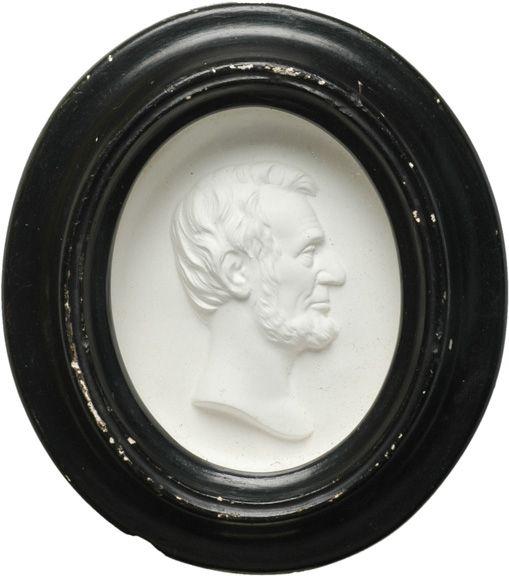 359: c. 1865 Framed Lincoln Plaster Relief