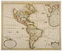 558 1739 Engraving of Map of America