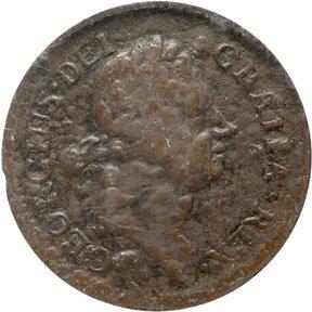 1155: Colonial Coinage, 1722 Rosa Americana Halfpenny
