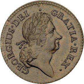 1157: Colonial Coinage, 1723 Rosa Americana Penny