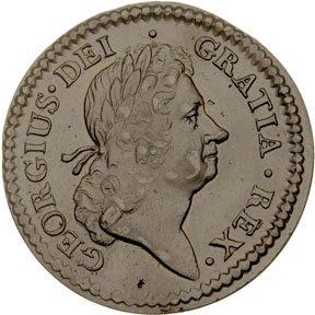 1158: Colonial Coinage, 1723 Rosa Americana Penny
