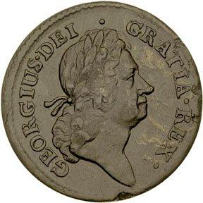 1159: Colonial Coinage, 1723 Rosa Americana Penny