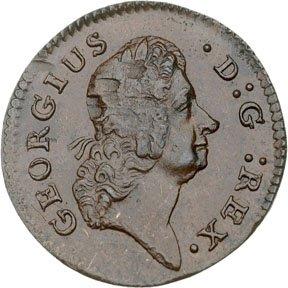 1161: Colonial Coinage, 1723 WoodÕs Hibernia Farthing