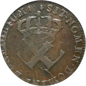 1164: Colonial Coinage, 1721-H French Colonies Copper