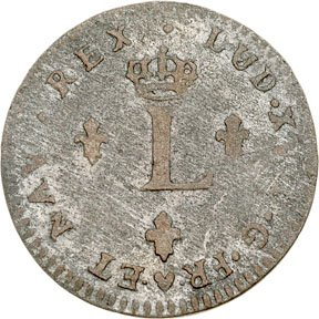 1167: Colonial Coinage, 1742-BB French Colonies 24 Den