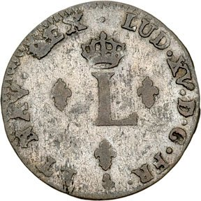 1170: Colonial Coinage, 1762 French Colonies 24 Den.