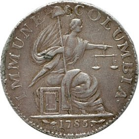 1176: Colonial Coinage, 1785 Immune Columbia, Silver