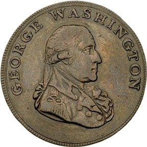 1221: 1795 Washington Liberty - Security Halfpenny