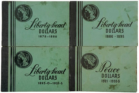 1322: Collection of 98 Morgan - Peace Silver Dollars