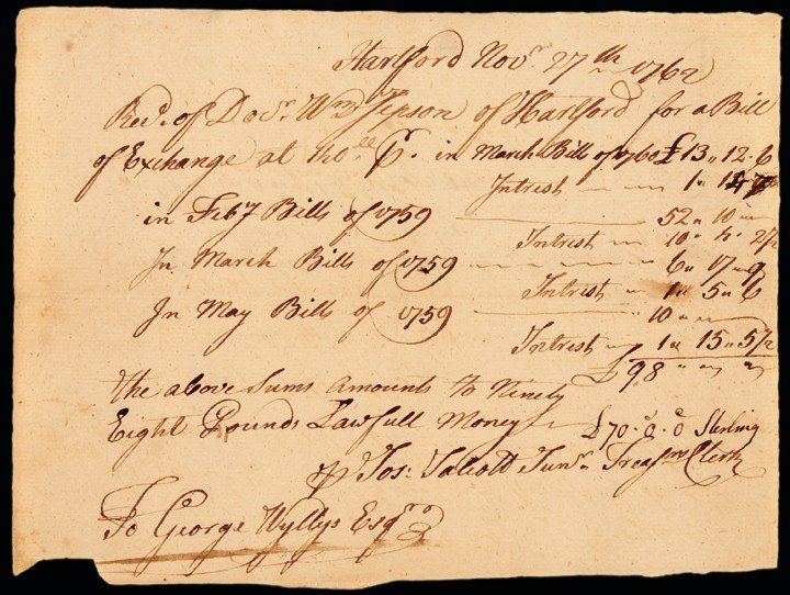 November 27, 1762-Dated Colonial Era, Manuscript Docume