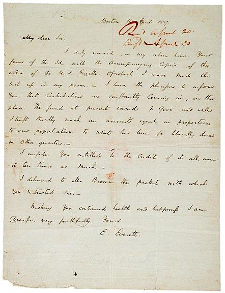 3003: EDWARD EVERETT, Autograph Letter Signed, 1827