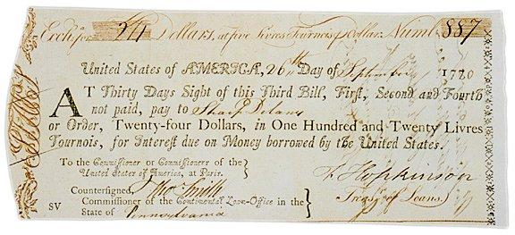 3005: 1780 FRANCIS HOPKINSON Signed Document