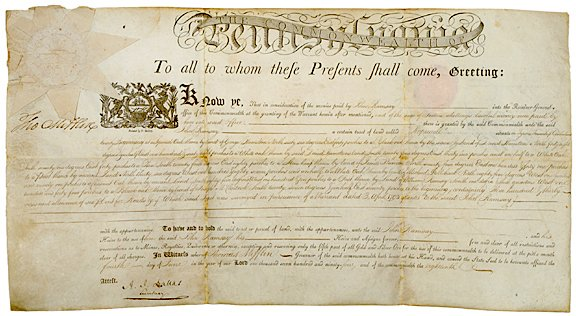3006: Printed Document Signed, THOMAS MIFFLIN1794