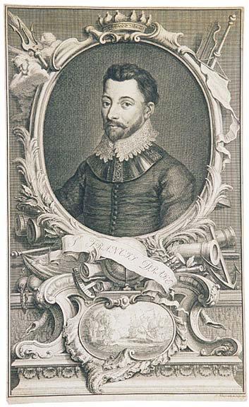 3012: Engraving of Sir Francis Drake, 1760