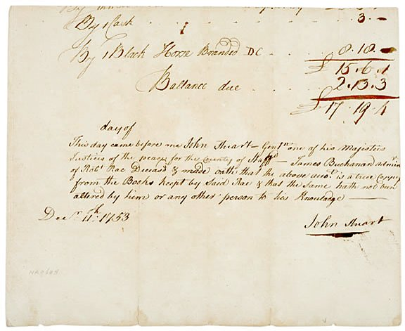 3013: 1753, Colonial Legal Statement