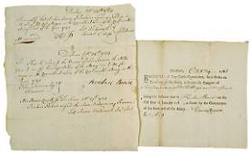 3067: 1783, Two Soldiers Pay Receipts from Connecticut