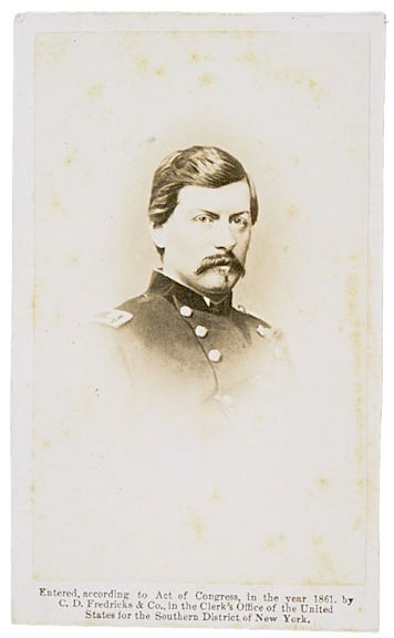 3153: CDV of Union General George Brinton McClellan
