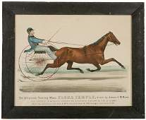 3270 1872 Currier  Ives Handcolored Print